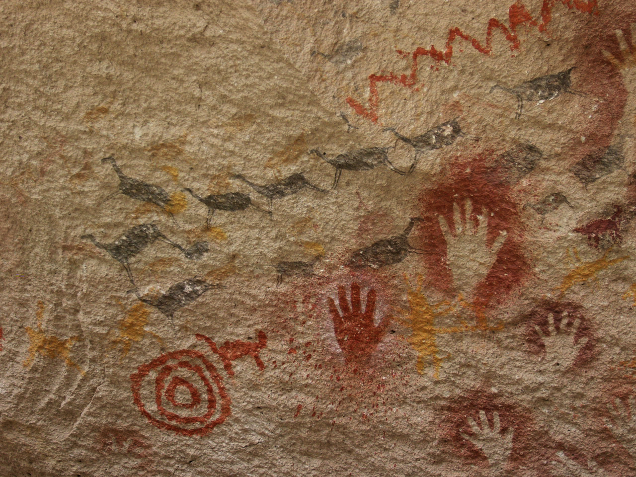 La Cueva de las Manos (« Grotte des Mains ») Argentine