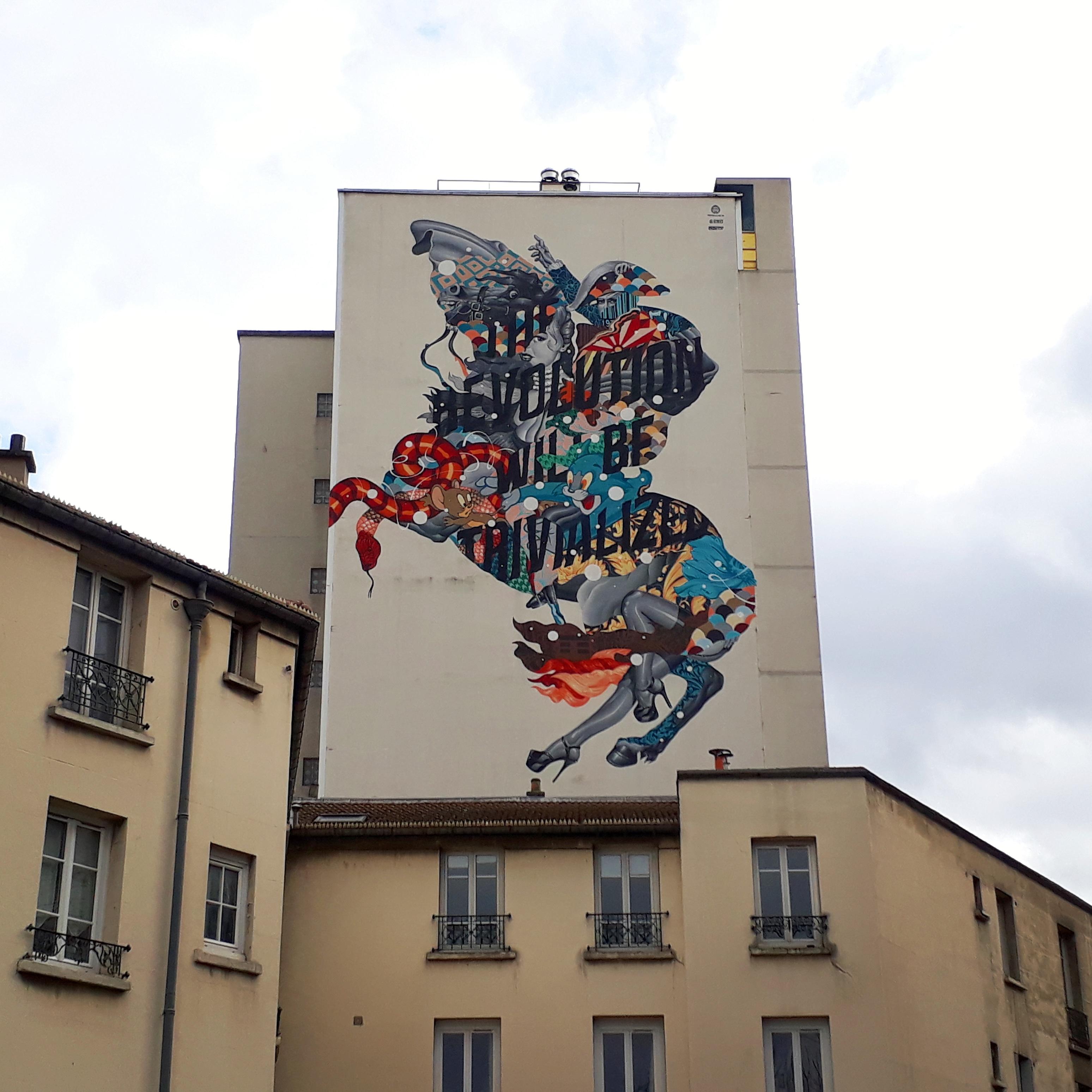 Oeuvre du street artiste Tritant-Eaton