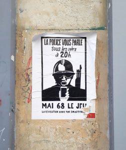 Affiche mai 68 avec CRS