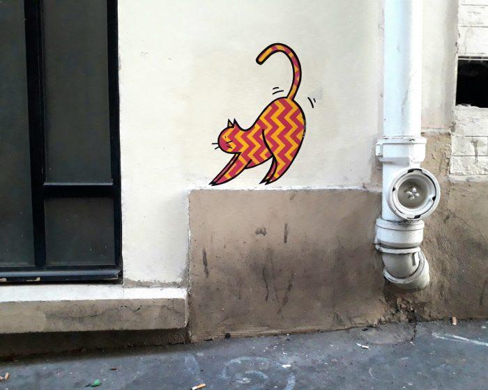 street art chat ami amiginaire