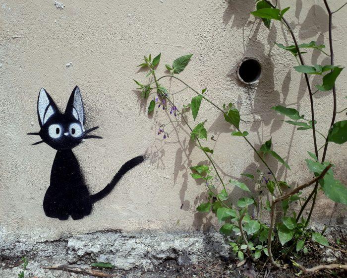 street art chat noir