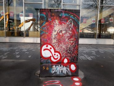 street art chat rouge c215