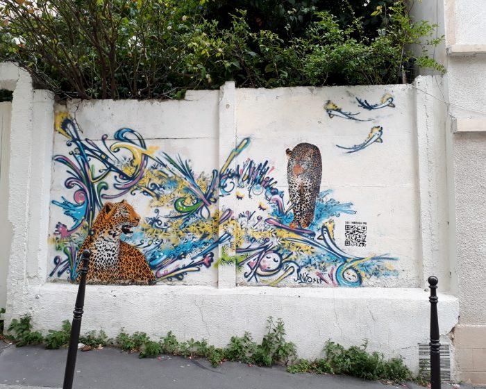 street art leopard
