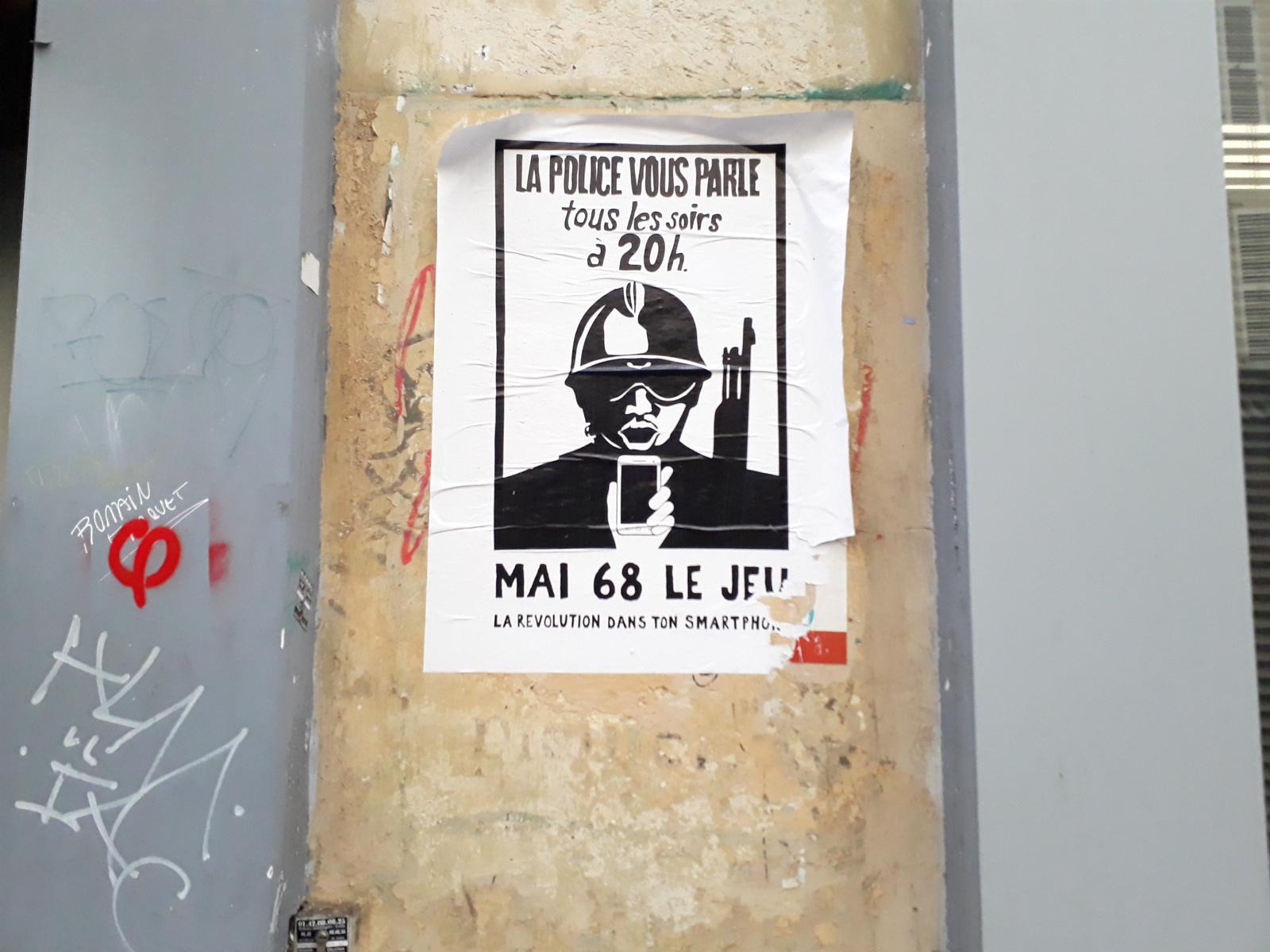 Affiche du style mai 68
