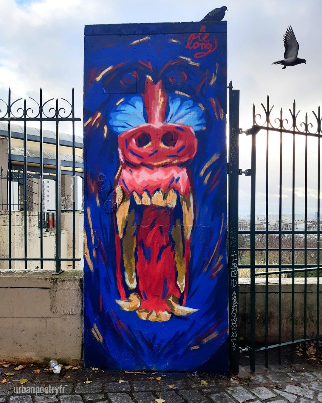 Babouin par l'artiste Lelong