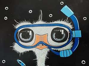 street art autruche