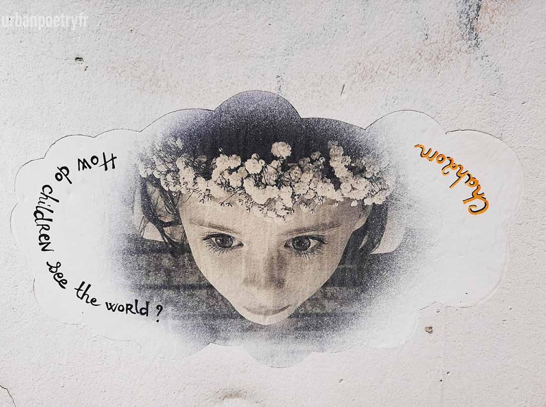 street art enfant Chah2om