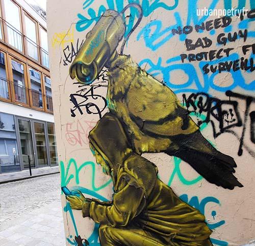 Video surveillance djalouz street art