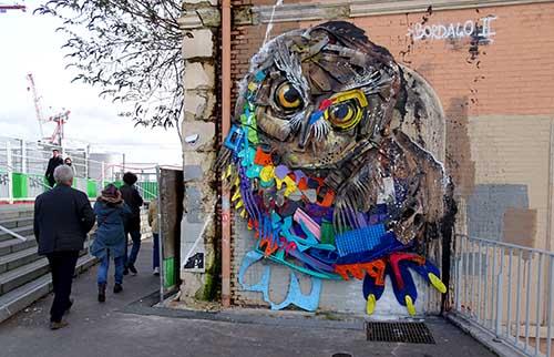 Bordalo street art urban poetry