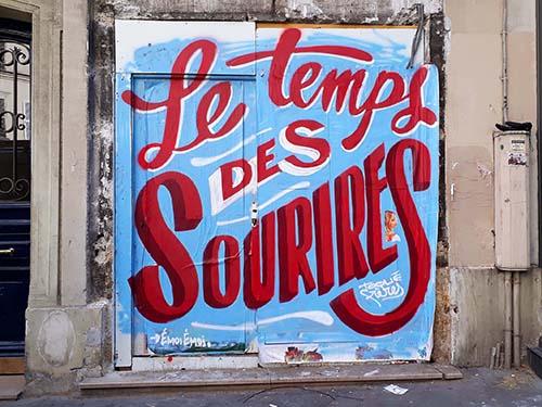 Typo street art urban poetry