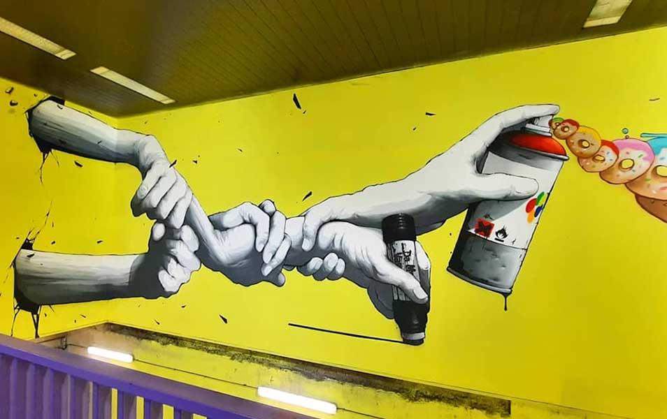 Fresque de Brusk gare de lyon urban poetry